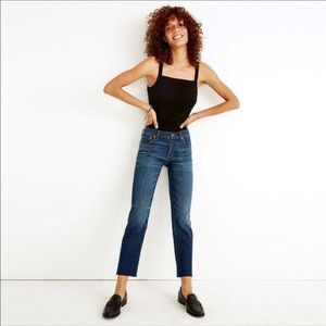 Madewell | The Slim boy jeans raw hem edition